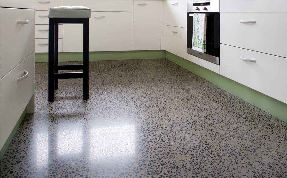 Concrete polishing for residential and commercial floors on the Sunshine Coast and Brisbane. - Honed & Polished Concrete working in the studio